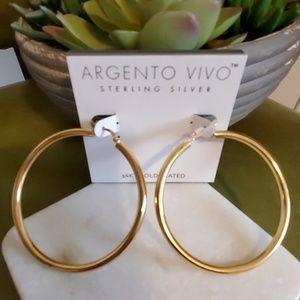 Argento Vivo hoops